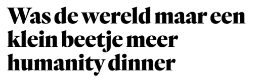 Humanity Dinner